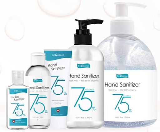 becleanse hand sanitizer collection