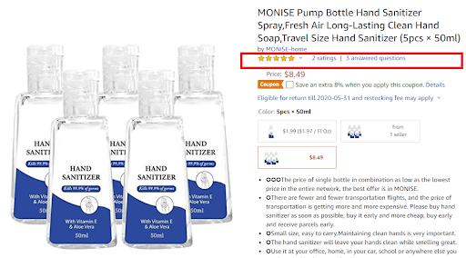 bulk hand sanitizer amazon