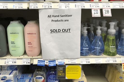 every hand sanitizer is sold out