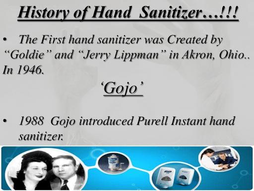 gojo invention of first hand sanitizer
