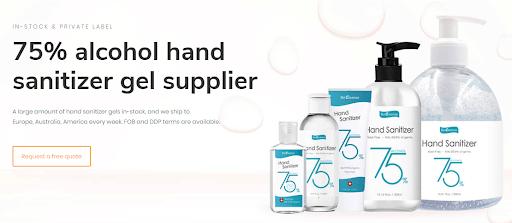 hand sanitizer manufacturer supply in different bottle sizes