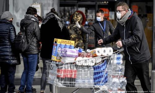 panic buying, hoarding, gouging