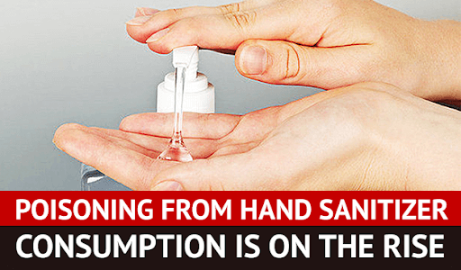 poison from hand sanitizer consumption