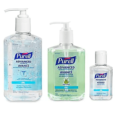 purell hand sanitizer in pump bottles different sizes