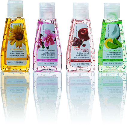 scented hand sanitizers alcohol based
