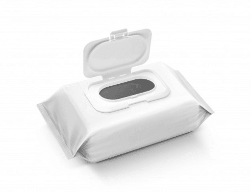 wet wipes white packaging dispenser